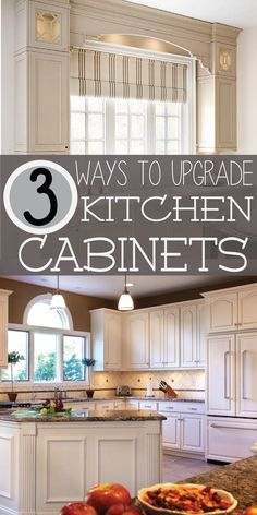 Save money and upgrade existing kitchen cabinets, instead of replacing them.  CLICK to learn more!