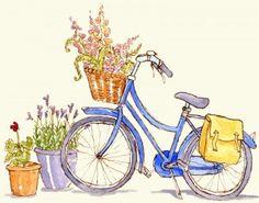 Bike & Flowers by Kat Whelan