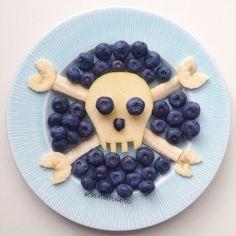 Frukt og Bær for en ekte pirat⚓️ laget for @adamsmatkasse food for a real…