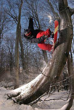 Rock to fakie #snowboard