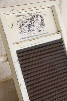 Shabby Chic Washboard - ooh I want this to hang on my laundry wall