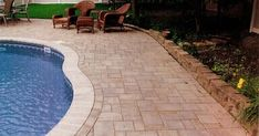 stamped concrete around a pool - Yahoo Image Search Results