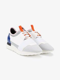 89175241868 BALENCIAGA Race Runner Leather And Fabric Sneakers.  balenciaga ...