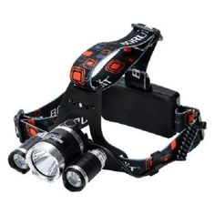 3 CREE XM-L T6 LED Head Lamp Lighting Modes Adjustable Head Weatherproof
