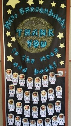 a02a6c2a2bf Teacher Appreciation door with a space theme for