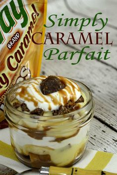 Simply Caramel Parfait in a Jar! from Pink Cake Plate
