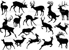 depositphotos_6260805-running-deer-silhouettes.jpg (1023×735)
