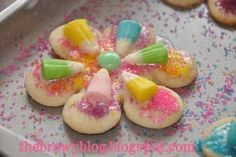 Candy Corn Easter Sugar Cookies