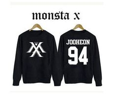 Dmart7dealKpop new idol group monsta x member name printing spring autum sweatshirt fans supportive o neck pullover hoodie plus size
