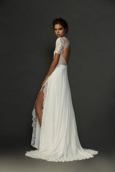 The beauty!! Sexy, sophisticated and classic, we love our Valentina dress! Perfect for the modern, chic bride. xx Grace Loves Lace Untamed Romance collection. www.graceloveslace.com.au #weddingdress #bohemianwedding #laceweddingdress #lace