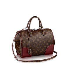 #M50508 Louis Vuitton 2015 Monogram Speedy DOC PM Handbag-Bordeaux