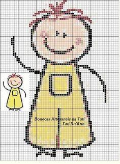 bonecos de palitos ponto de cruz pinterest - cross stitching pattern