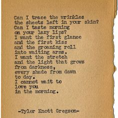 Typewriter Series #1198 by Tyler Knott Gregson