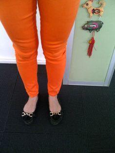 My flat shoes | Yongki Komaladi | Orange pants | floor carpet