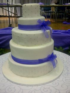 A beautiful wedding cake by Belle's Patisserie.