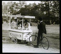 Les petits métiers de Paris en 1900 Marchande de glaces