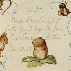 "The very scarce first issue of ""Johnny Town-Mouse,"" inscribed by Beatrix Potter and in the original printed Glassine dust jacket."