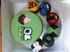 Ben 10 birthday cake & cupcakes