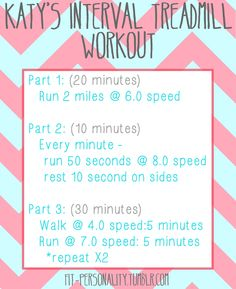 Interval Treadmill Workout