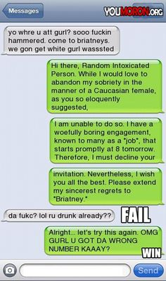 Funny drunk text messages, funny drunk texts, drunk humor, funny jokes to t Funny Wrong Number Texts, Funny Texts, Fail Texts, Humor Texts, Random Texts, Haha, Jenifer Lawrence, Text Fails, Youre My Person