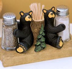 Oh so cute! The tree trunk is a handy place for toothpicks. Hand-cast resin and hand wash only. www.campfitters.com