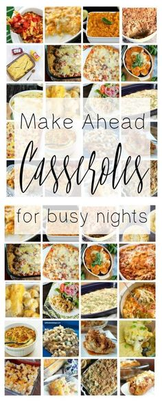 This collection of Make Ahead Casserole Dinner Recipes is perfect for meal planning, baby-prep, and any time you want to have a simple homemade meal!