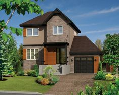 Petite Two-Story European House Plan - 80882PM | 2nd Floor Master Suite, CAD Available, European, Modern, PDF, Photo Gallery | Architectural Designs