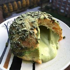 """bibble and sip"" - matcha cream puff"