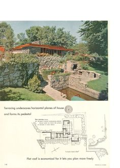 Usonian, Frank Lloyd Wright, Architecture, Ideas, Arquitetura, Architecture Design, Thoughts
