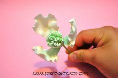 Royal Icing Flowers, Fondant Flowers, Sugar Flowers, Flor Magnolia, Flower Food, Pasta Flexible, Cake Tutorial, Gum Paste, Peonies