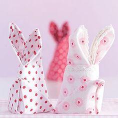 Bunny Napkins #napkins #Easter