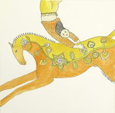 Girl on horse by Cate Edwards
