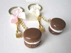Macaron Key Chain by CakeykhanCharms on Etsy, $5.00