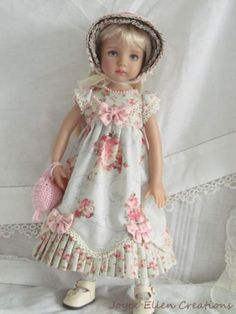13-Effner-Little-Darling-BJD-fashion-blue-pink-Regency-OOAK-handmade-by-JEC. SOLD for $132.50 on 6/21/15