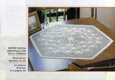 Pineapple crochet table cloth chart - My table needs this.