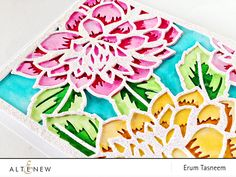 Altenew Layered Floral Cover Dies A and B. Card by @pr0digy0