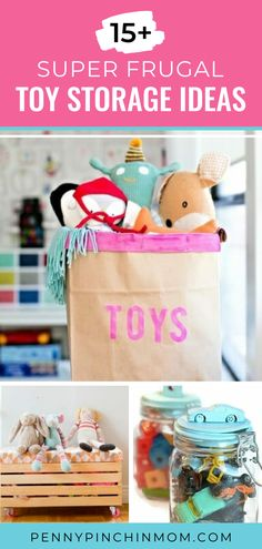 Toy storage ideas are a must for any parent! Toys tend to take over the house, but you can corral them with these ideas! Saving Ideas, Money Saving Tips, Toy Storage, Storage Ideas, Create A Budget, Frugal Living Tips, Organizing Tips, Life Organization, Ways To Save Money