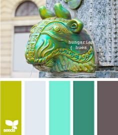 chartreuse and turquiose color scheme | Aqua, Chartreuse and Grey