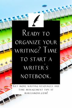 Need help organizing your writing ideas and plot bits and pieces? You need a writer's notebook. Check out these tips to organize your writing life. #novelwriting #fictionwriting #author #writer