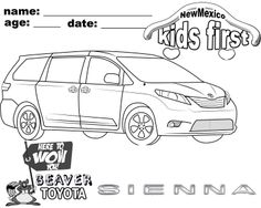 Color my #Toyota Sienna!
