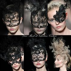 I have a serious obsession with the idea of wearing a mask. beautiful lace, all eyes on you...the girl no one can recognize.