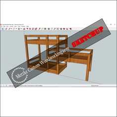 Triple Bunk Bed SketchUp Cover