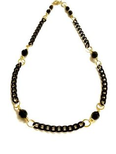 Necklace 'Black & Gold' elegant casual style