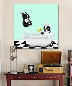 Bath Tub Wrapped Canvas #zulily #zulilyfinds