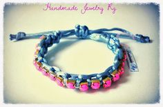 Handmade Jewelry Rg:Bracelet Pink vs Grey