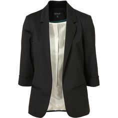 Three Quarter Sleeve Blazer ($130) ❤ liked on Polyvore featuring outerwear, jackets, blazers, tops, women, three quarter sleeve jacket, 3/4 sleeve jacket, navy blazer, navy blue jackets and navy jacket