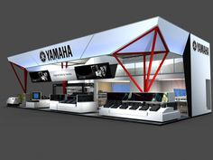 YAMAHA 2010 Shanghai China Exhibition Stall, Exhibition Booth Design, Exhibition Display, Exhibition Ideas, Dragonfly Drawing, Exibition Design, Diy Cnc Router, Retail Store Design, Display Design