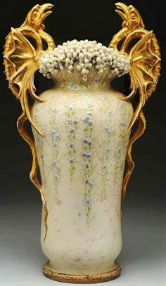 Pterodactyls Vase by Amphora, circa 1897