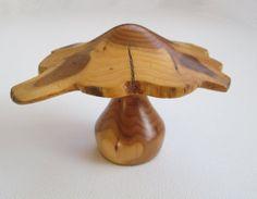 Yew Turned Wooden Mushroom Large Toadstool Wood