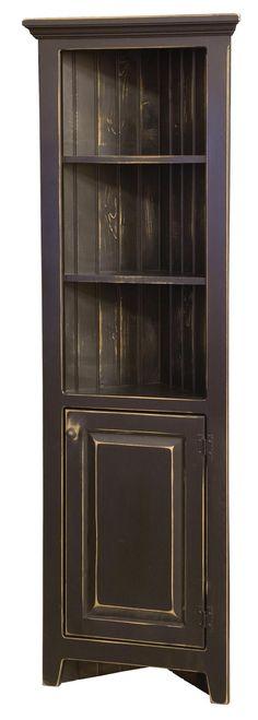 black corner cabinet | ... Furniture Home > Dining Room > Curio Cabinets > 24 Inch Corner Cabinet
